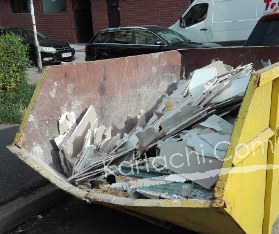 Извозване на отпадъци от къртене с контейнери